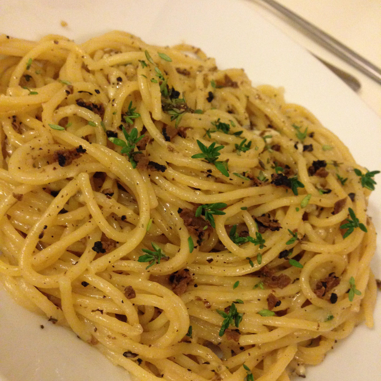 Cacio e pepe med trøffel – lækker nem pastaret