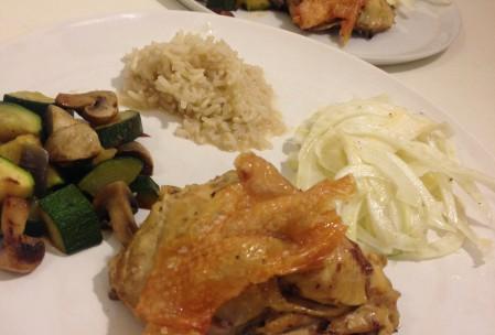 Kylling i garam masala med ris og fennikel