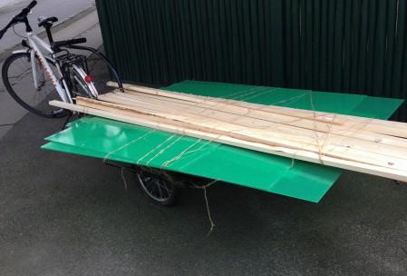 Cykeltrailer med læs