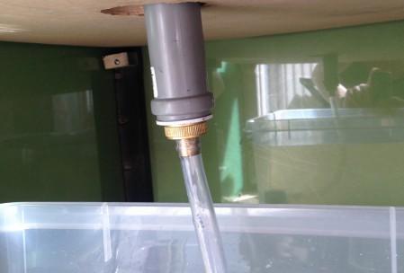tilslutning af aquaponic-system