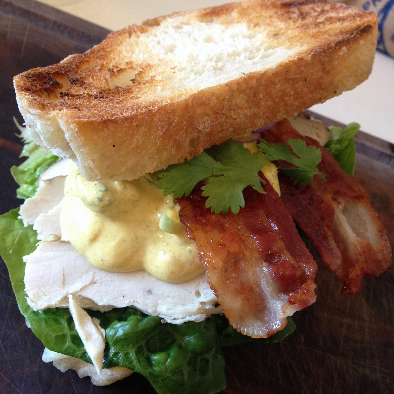kylling karry sandwich