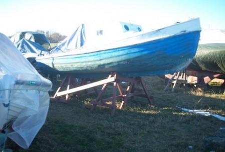 Båd på land ved dragørfort
